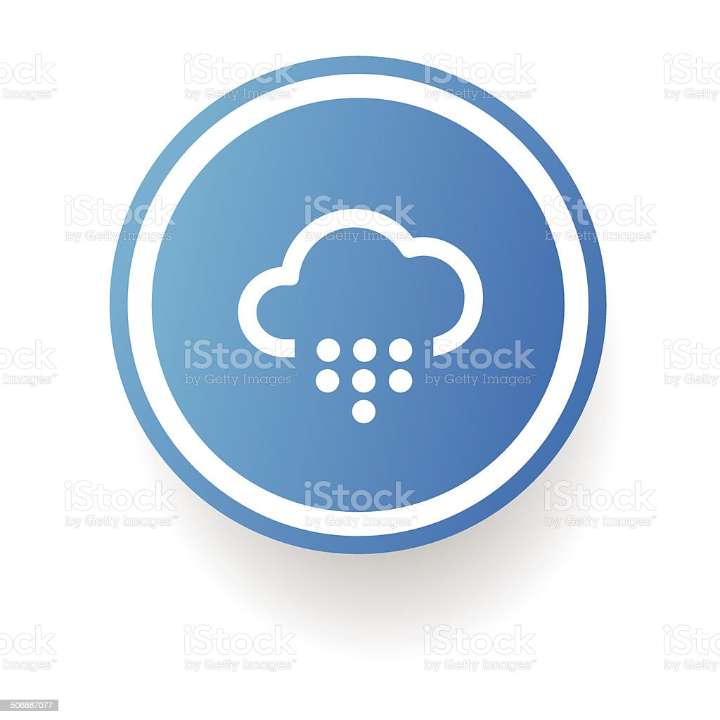 Rain symbol,Button on white background,vector royalty-free rain symbolbutton on white backgroundvector stock vector art & more images of abstract