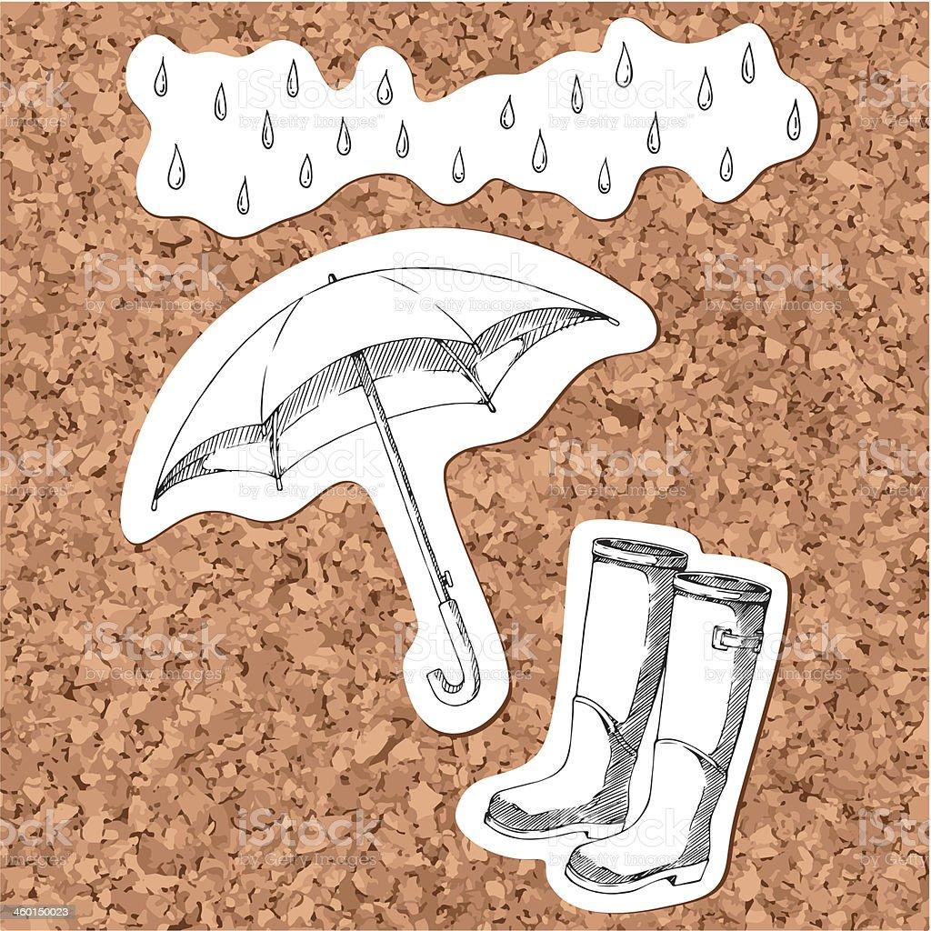 Rain vector art illustration