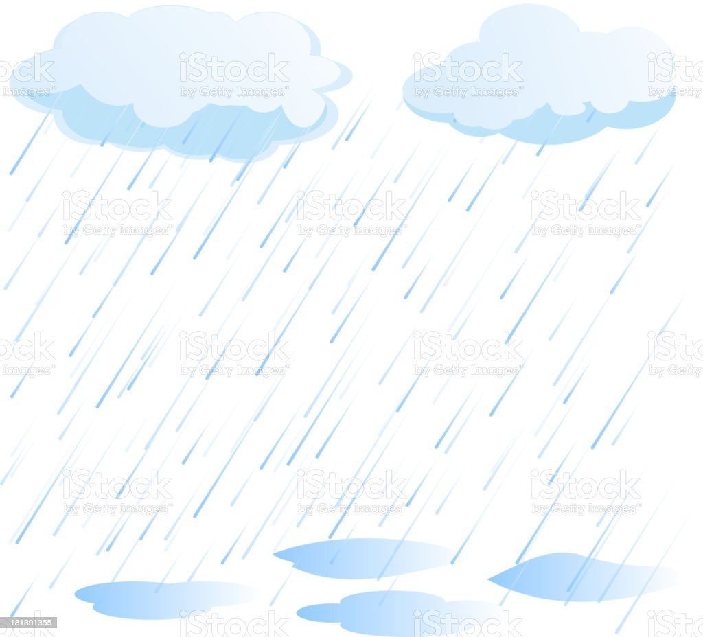rain vector vector art illustration