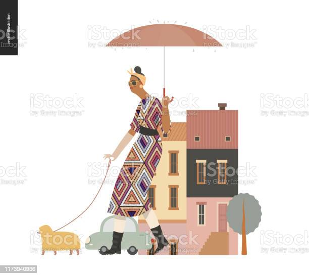Rain walking woman with a dog vector id1173940936?b=1&k=6&m=1173940936&s=612x612&h=phq7zwlxcjfrjtchbgiwhuh97pthxvz 4tda4jvwtla=