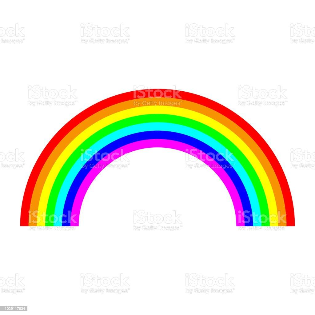 Icono de arco de arco iris. - ilustración de arte vectorial