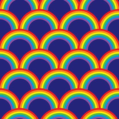 Rainbow Arches Seamless Pattern