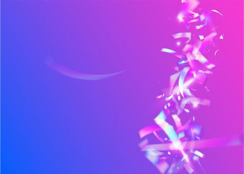 Rainbow Background. Kaleidoscope Confetti. Retro Colorful Sunlight. Violet Blur Tinsel. Modern Art. Laser Prism. Neon Effect. Crystal Foil. Blue Rainbow Background