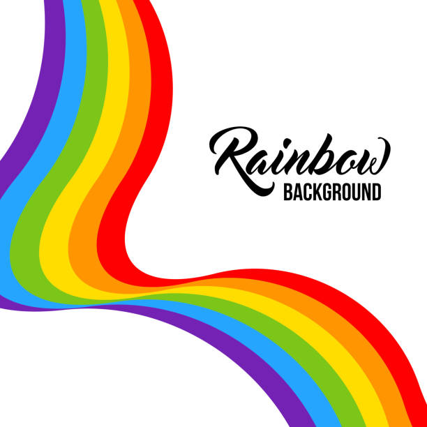 Rainbow background LGBT colors. Abstract geometric pattern. vector art illustration