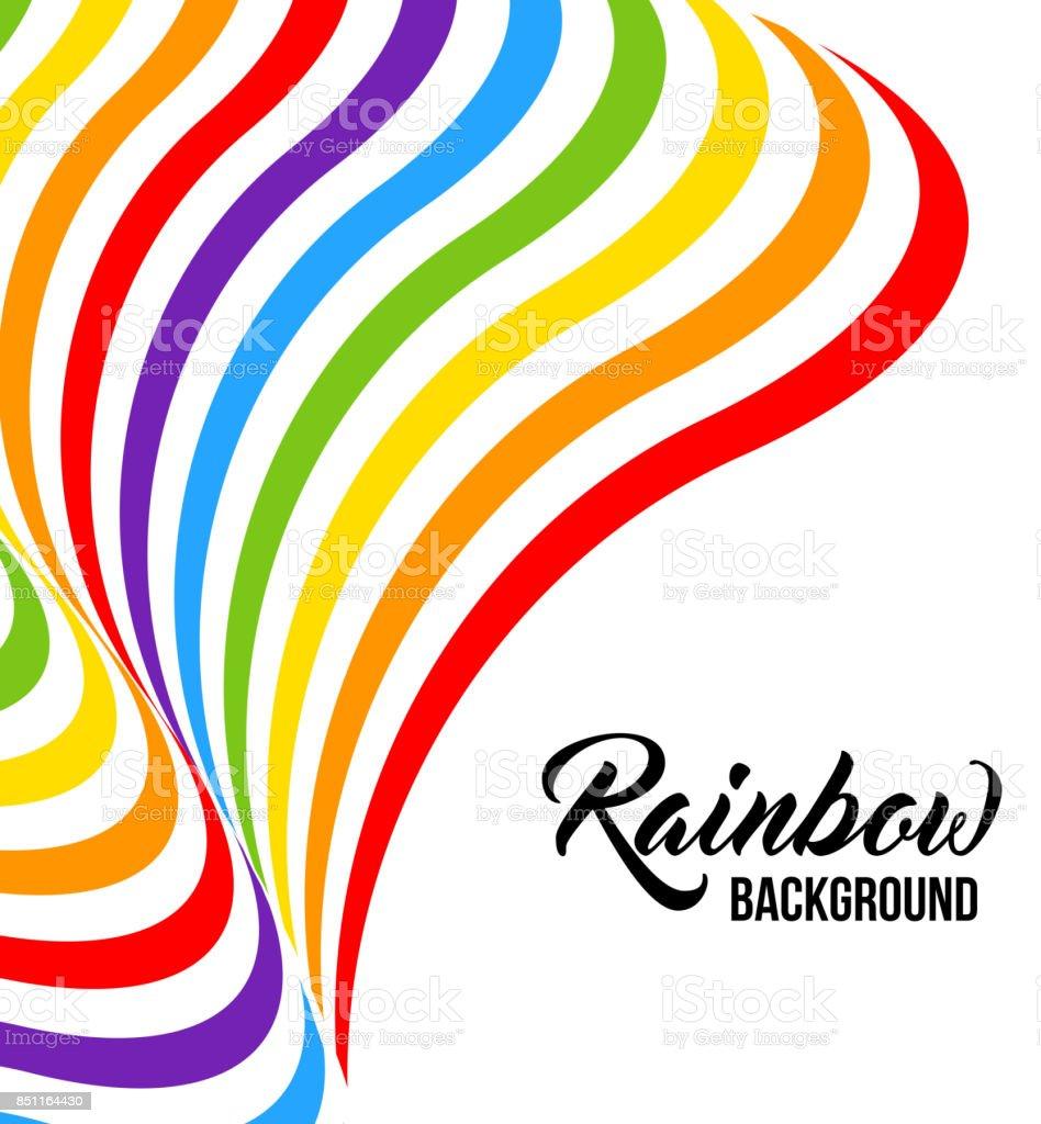 Colores del arco iris fondo LGBT. Patrón geométrico abstracto. - ilustración de arte vectorial
