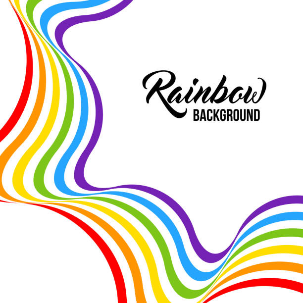 Rainbow background LGBT colors. Abstract geometric pattern. Rainbow background LGBT colors. Abstract geometric pattern. Vector illustration. Colorful wave, wavy LGBT flag. community borders stock illustrations