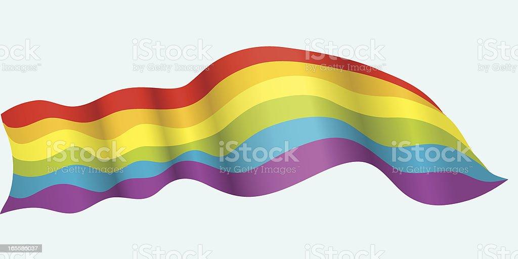 Rainbow Banner vector art illustration