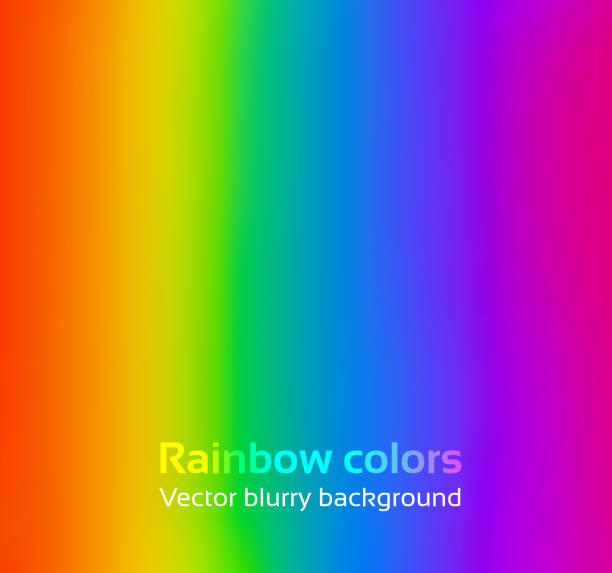 bildbanksillustrationer, clip art samt tecknat material och ikoner med rainbow blurred background. - spektrum