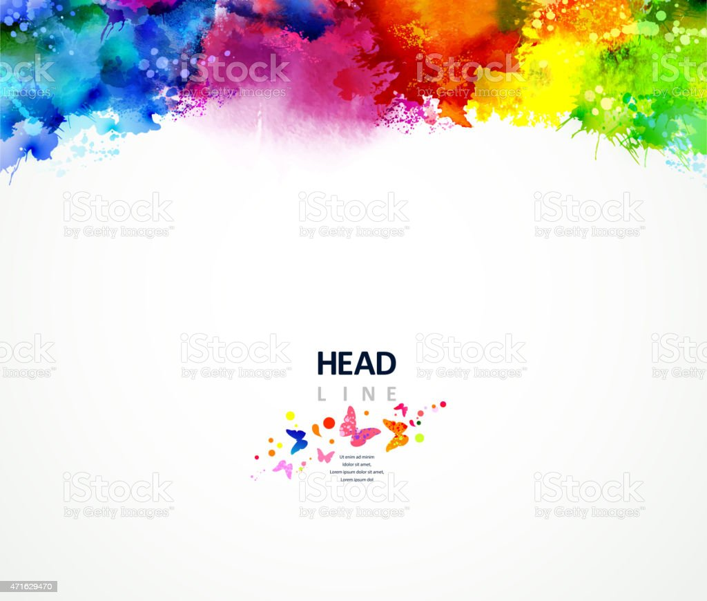 rainbow border vector art illustration
