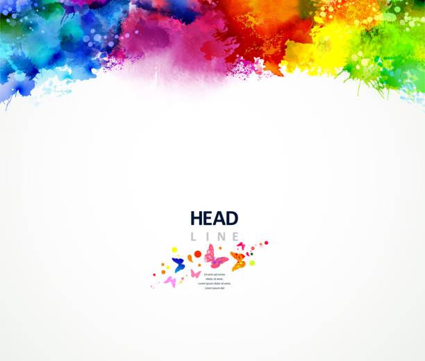 rainbow border vector art illustration