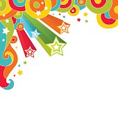 Rainbow bright holiday background. Place for text. Vector illustration.  EPS-10 and High resolution Jpg.