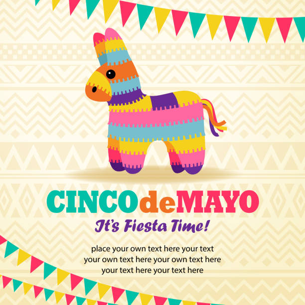 Rainbow Burro Pinata vector art illustration
