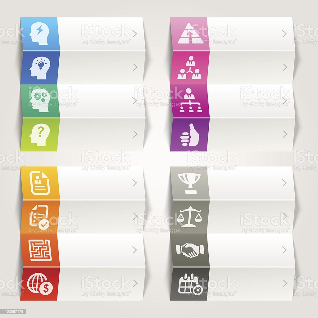 Rainbow - Business strategy and management icons / Navigation template royalty-free stock vector art