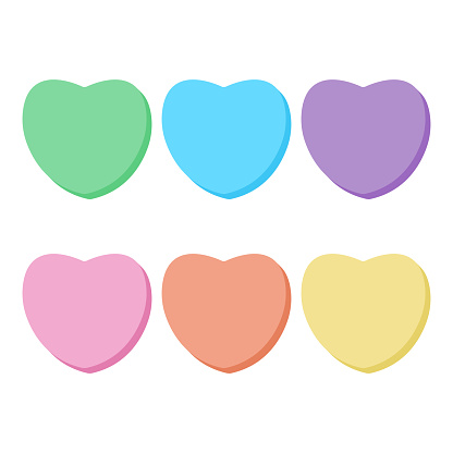 Rainbow Candy Hearts Collection