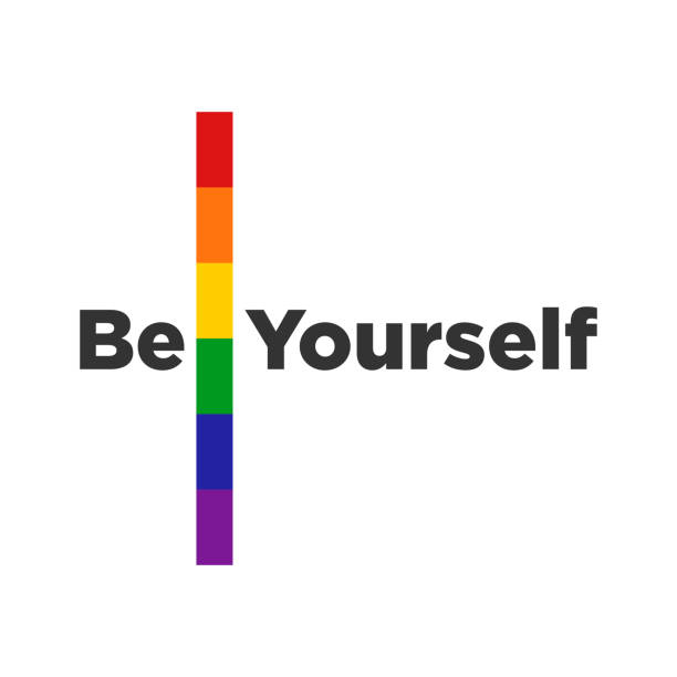 stockillustraties, clipart, cartoons en iconen met rainbow card gekleurde lgbt pride design element - lgbt flag