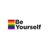 Rainbow Card Colored LGBT Pride Design Element