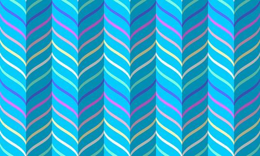 Rainbow chevron pattern, seamless vector geometric background