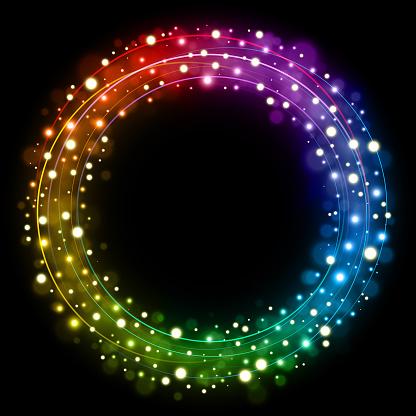 Rainbow Christmas circle vector illustration