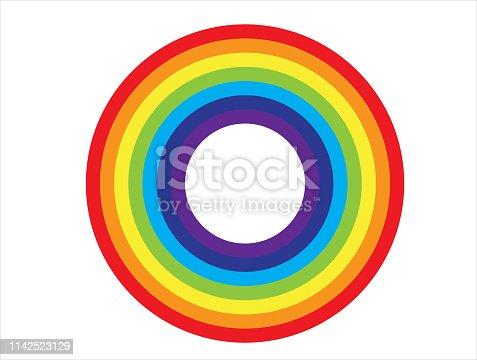 istock Rainbow Circle icon ,vector design 1142523129
