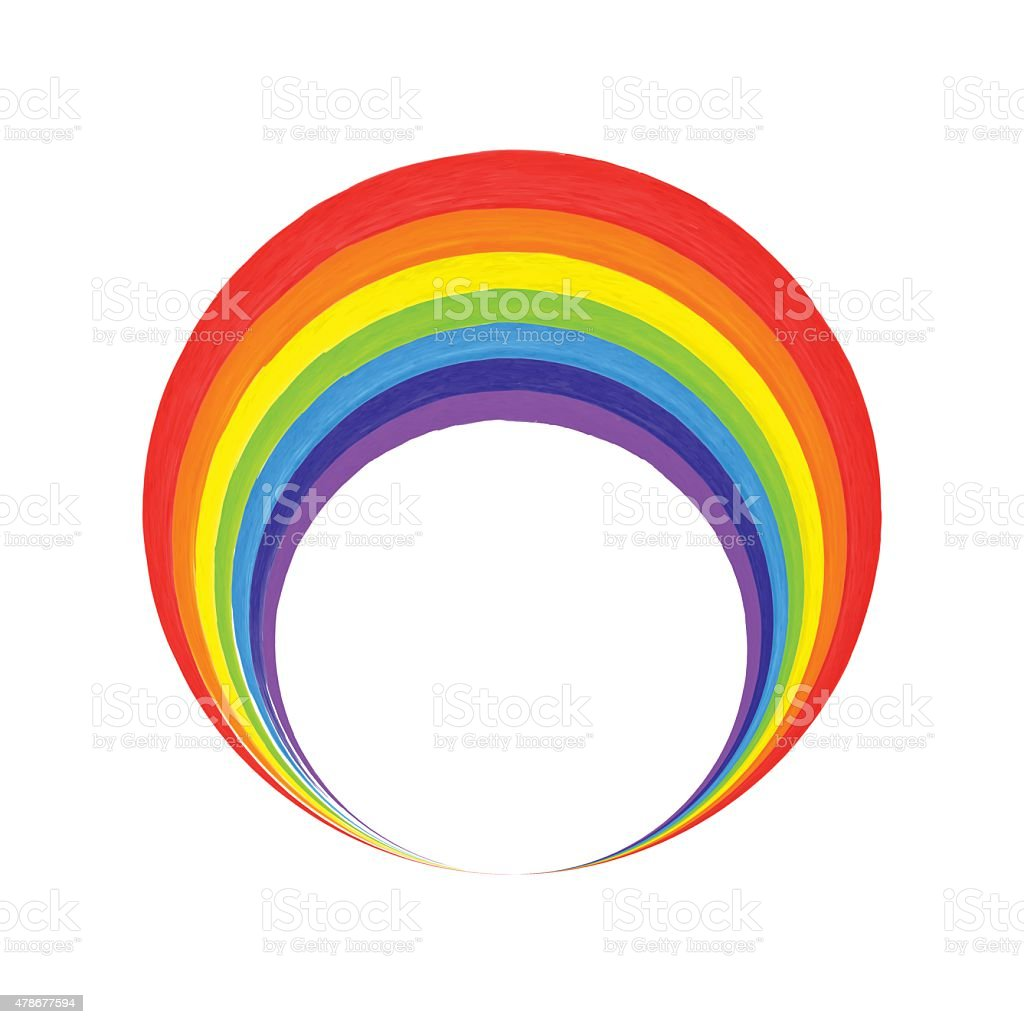 Cerchio Arcobaleno Logo Modello Arcobaleno Icona Simbolo Immagini