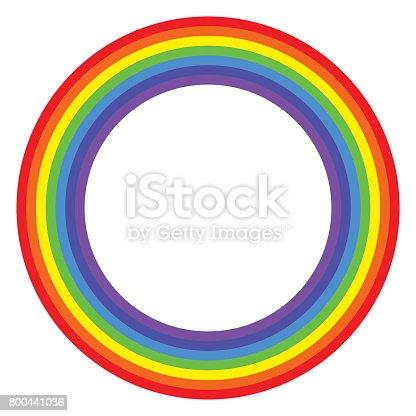 istock Rainbow circle spectrum colored 800441036