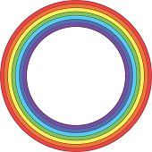 Rainbow circle - vector element
