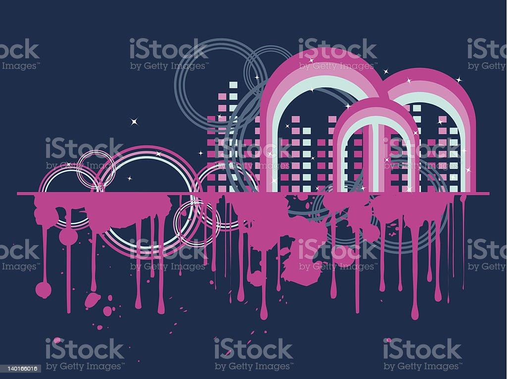 Rainbow City royalty-free stock vector art