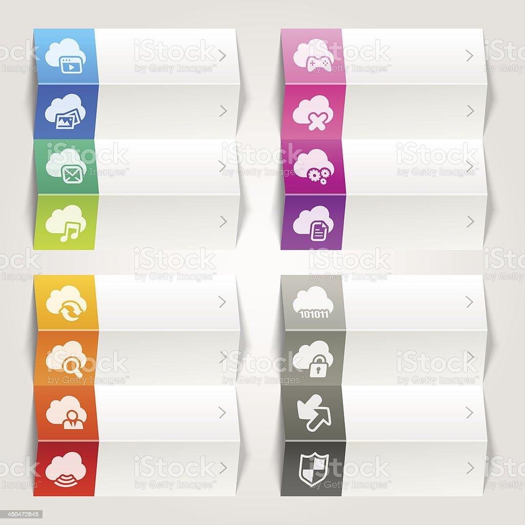 Rainbow - Cloud computing icons / Navigation template royalty-free stock vector art