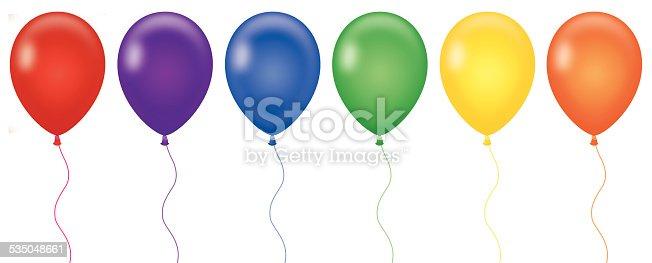 istock Rainbow Color Balloons 535048661