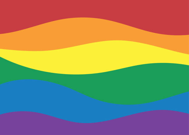LGBT Rainbow color flag Pride of Gay,Lesbian wave colorful concept vector background LGBT Rainbow color flag Pride of Gay,Lesbian wave colorful concept vector background gay person stock illustrations