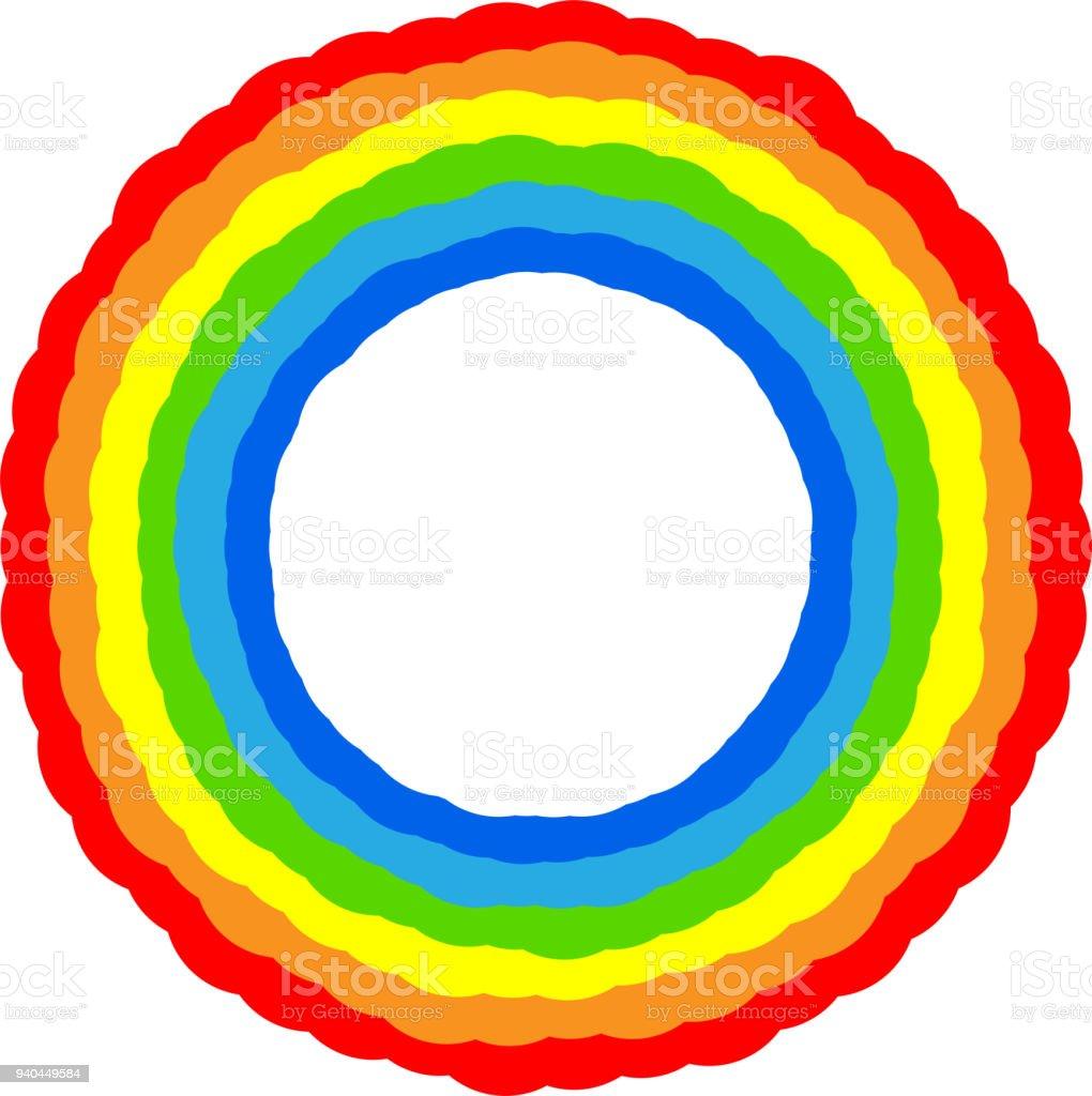 Regenbogen Farbe Rahmen 4 Stock Vektor Art und mehr Bilder von ...