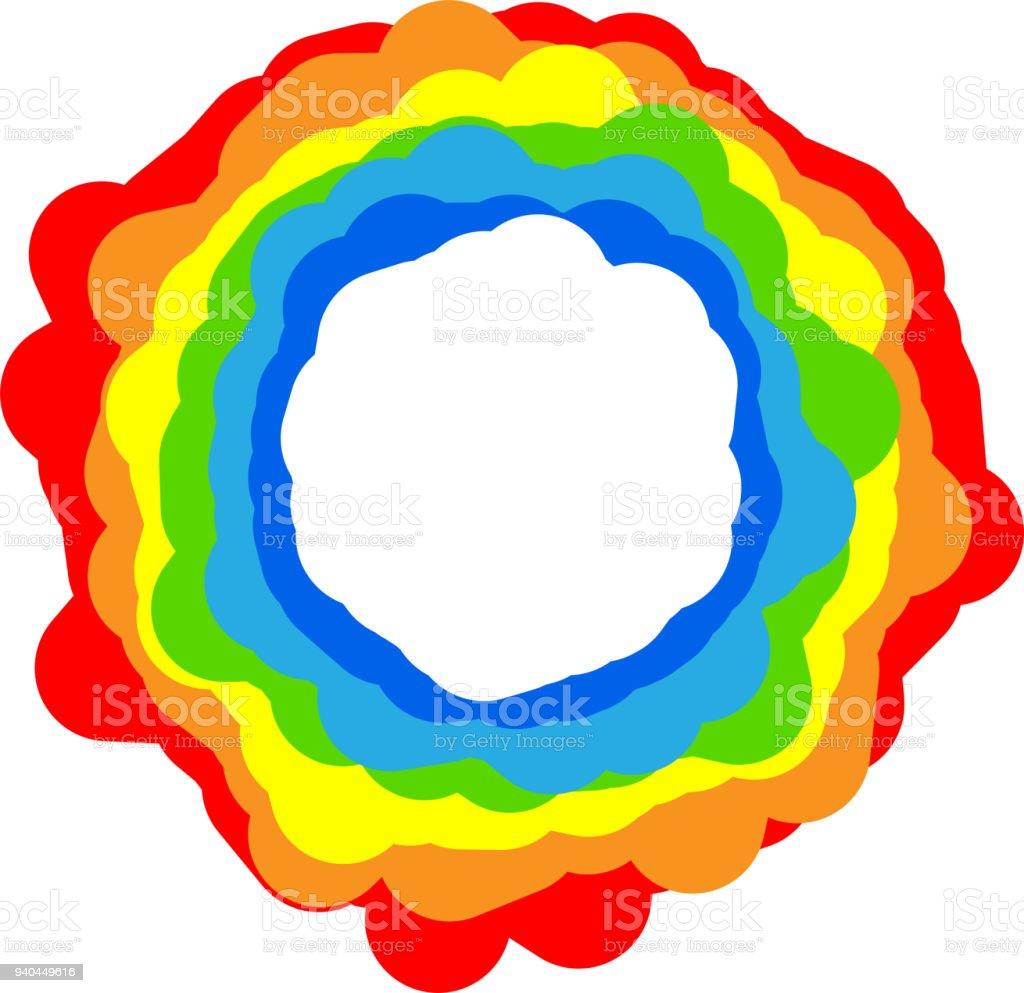 Regenbogen Farbe Rahmen 6 Stock Vektor Art und mehr Bilder von ...