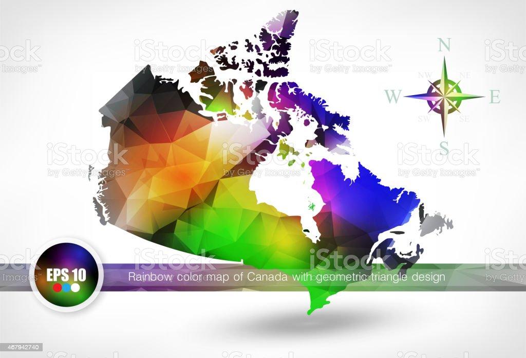 Rainbow color mapa de canad con diseo geomtrico triangle rainbow color mapa de canad con diseo geomtrico triangle illustracion libre de derechos libre de derechos gumiabroncs Gallery