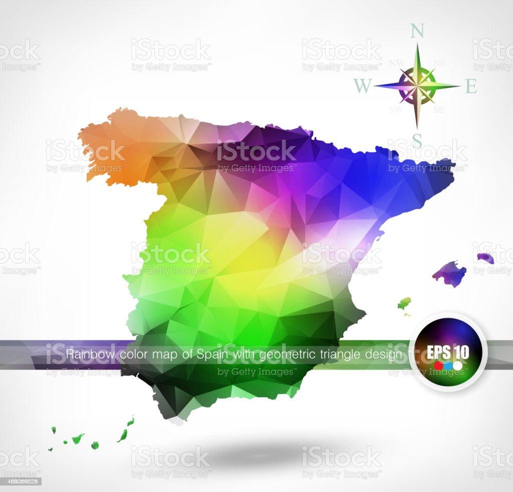 Rainbow color mapa de espaa con diseo geomtrico triangle arte rainbow color mapa de espaa con diseo geomtrico triangle rainbow color mapa de espaa con diseo gumiabroncs Gallery