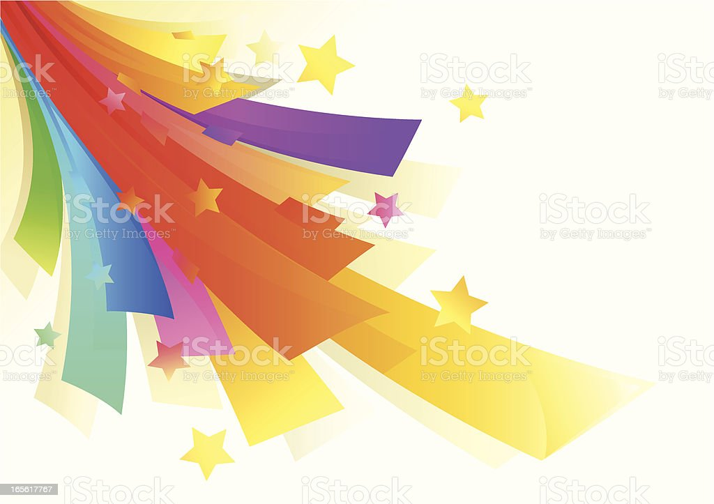 Rainbow Color Party Graphic royalty-free stock vector art