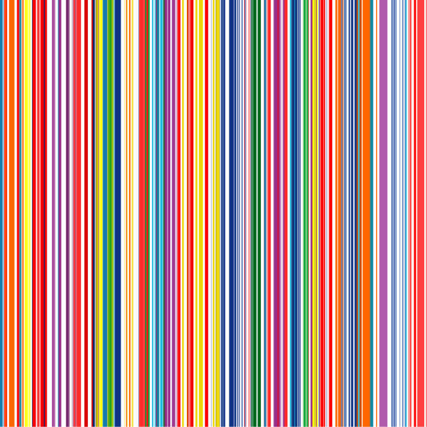 rainbow color stripes. seamless vector background - color image stock illustrations