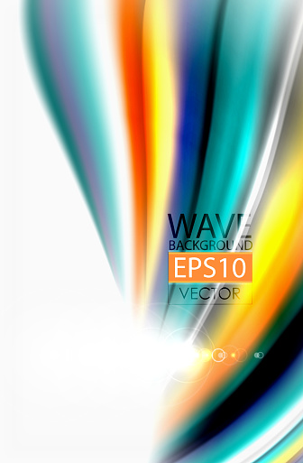 Rainbow Color Waves Vector Blurred Abstract Background Stock Illustration - Download Image Now