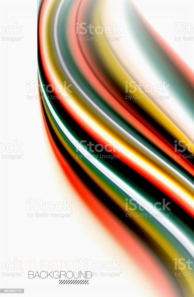 虹色の波ベクトルの抽象的な背景をぼかした写真 - つながりのロイヤリティフリーベクトルアート