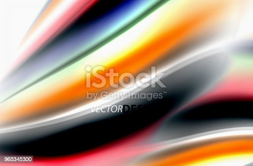 Rainbow Color Waves Vector Blurred Abstract Background - Stockowe grafiki wektorowe i więcej obrazów Abstrakcja 965345300