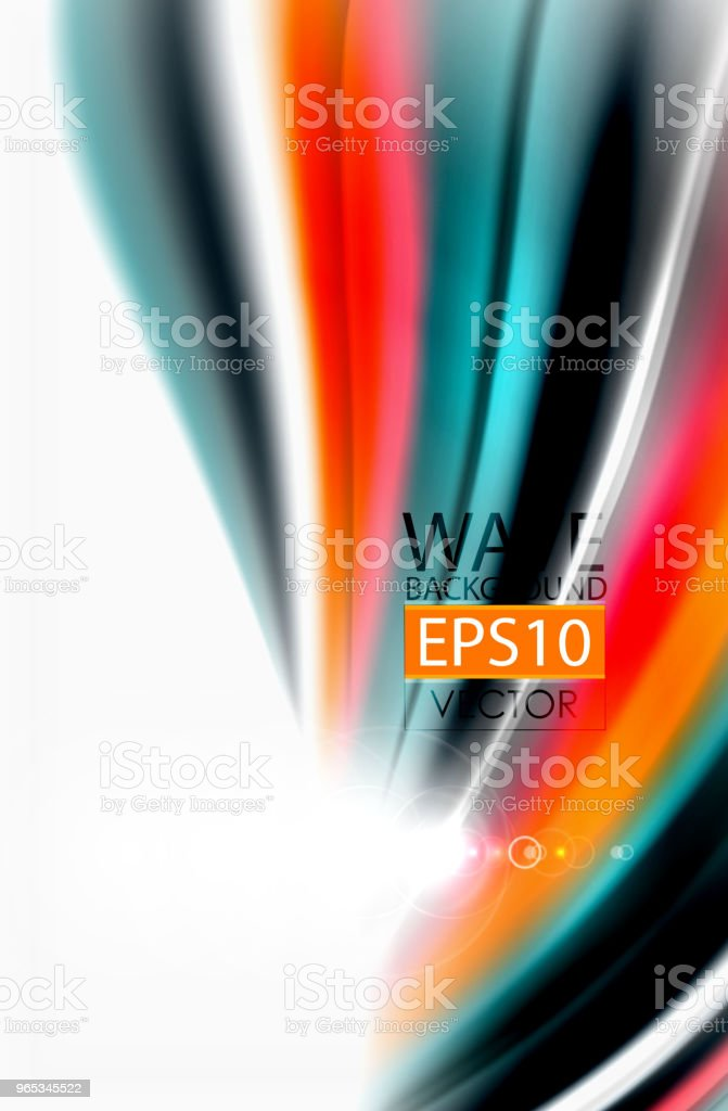 Rainbow color waves, vector blurred abstract background royalty-free rainbow color waves vector blurred abstract background stock vector art & more images of abstract
