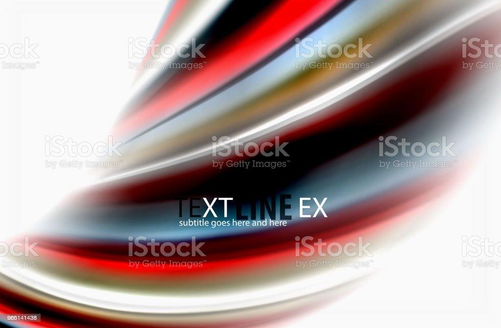 Regenboog kleur golven, abstracte achtergrond van vector wazig - Royalty-free Abstract vectorkunst