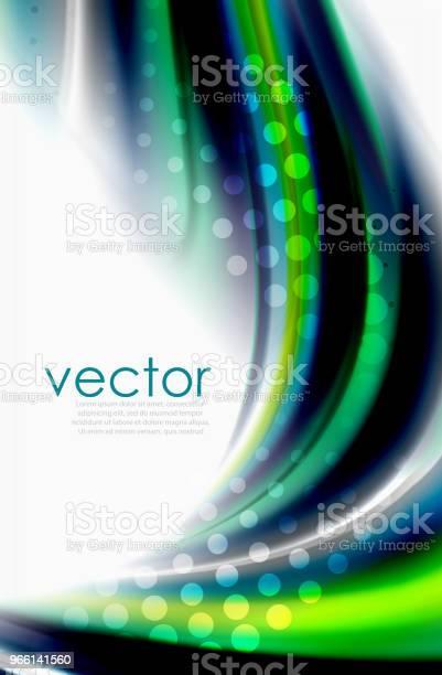 Rainbow Färg Vågor Vektor Suddig Abstrakt Bakgrund-vektorgrafik och fler bilder på Abstrakt