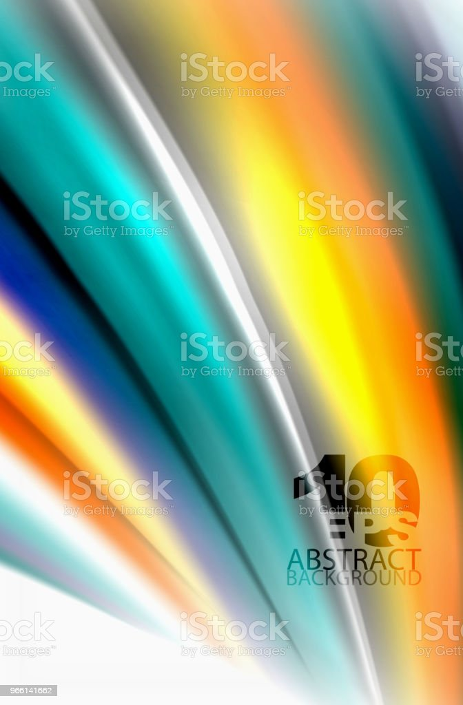 Rainbow färg vågor, vektor suddig abstrakt bakgrund - Royaltyfri Abstrakt vektorgrafik