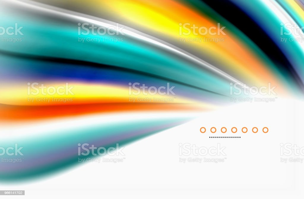 Rainbow color waves, vector blurred abstract background - Royalty-free Abstract stock vector