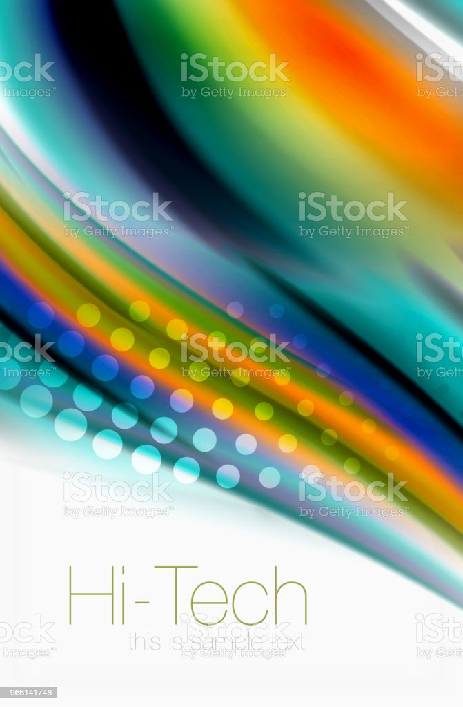 Rainbow color waves, vector blurred abstract background - Векторная графика Абстрактный роялти-фри