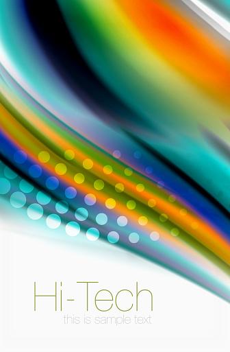 Regenboog Kleur Golven Abstracte Achtergrond Van Vector Wazig Stockvectorkunst en meer beelden van Abstract
