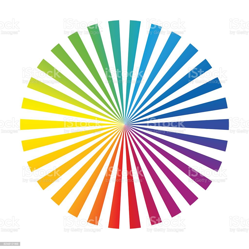 rainbow color wheel ink stripes white stock vector art 524512183