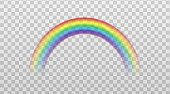 istock Rainbow colorful arch icon sign mockup realistic vector illustration isolated. 1218789810