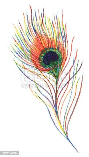 istock Patrón de plumas de ganso, azul, violeta, sale, ramas ...