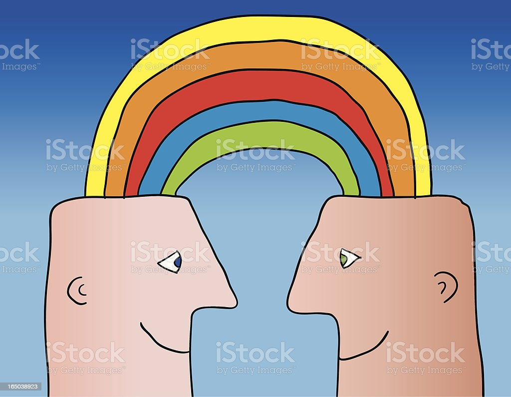rainbow connection royalty-free stock vector art